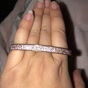 Henri Bendel Swarovski crystal rose gold bracelet